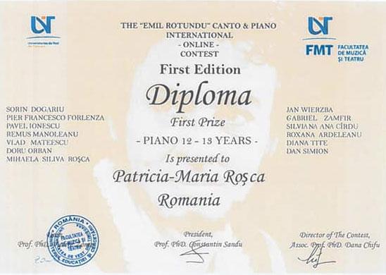 Diploma Patricia Rosca
